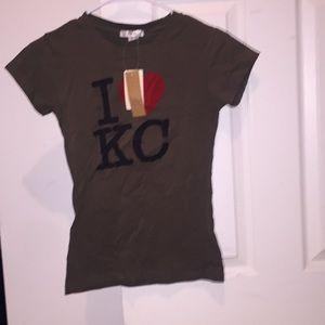 Women's Red Fox I ❤️ KC Shirt